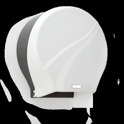 Диспенсър за хартия за ръце на ролка - Бял/Прозрачен
