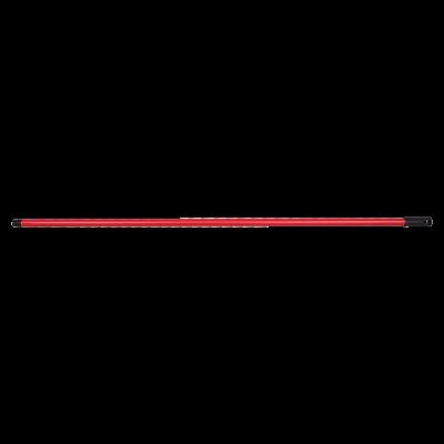 Метална дръжка за мопове 120 см. - Червена