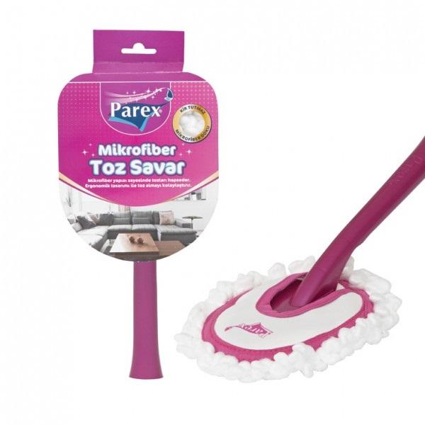 Микрофибърен парцал за прах с дръжка Parex | Моп за прах