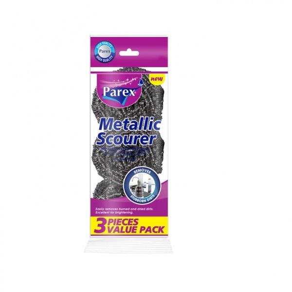 Метални домакински телчета за почистване Parex 3бр.
